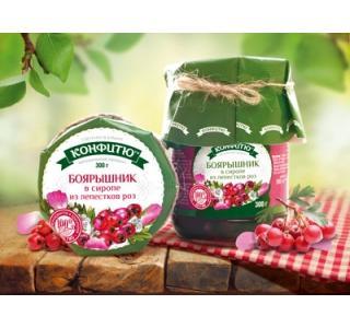 Варенье из ягод боярышника в розовом сиропе 300г ЦА