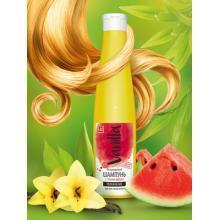 Безсульфатный шампунь с соком арбуза для всех типов волос,350 мл.