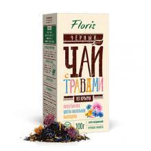 Черный чай с розой Чай в пачках Флорис
