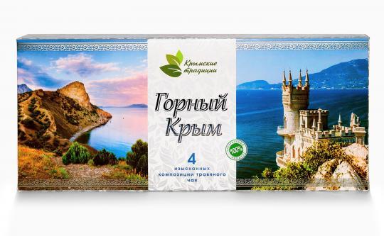 Горный Крым Набор  4 изысканных композиций травяного чая