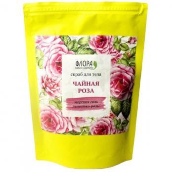 Сухой скраб Чайная роза деликатное очищение 150г. Флора