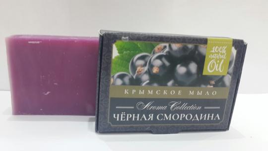 Мыло натуральное Черная смородина 50г Флора