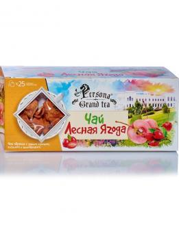 Чай Лесная ягода черный с яблоком, кизилом и шипов. 25 ф/п Лепесток