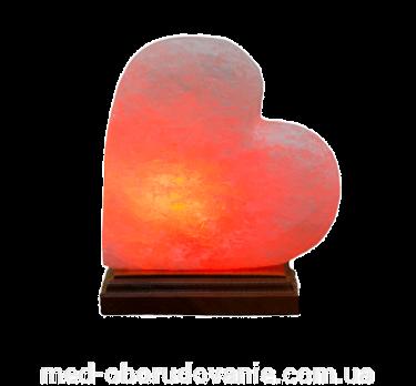 Соляная лампа Сердце на боку 1 кг Ваше здоровье