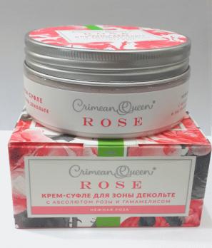 Крем-суфле для зоны декольте с абсолютом розы и экстрактом гамамелиса Нежная роза, 150г ДП