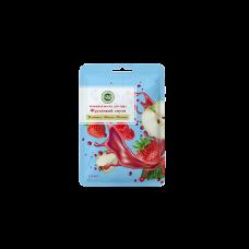 Тканевая маска для лица Клубника, яблоко, малина Крымская натуральная косметика