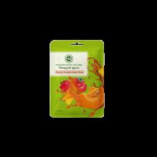 Тканевая маска для лица Тыква, сладкий перец, томат Крымская натуральная косметика