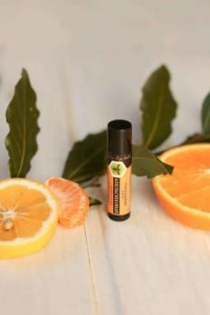 Бальзам для губ Апельсиновый с прополисом Лавандовый край