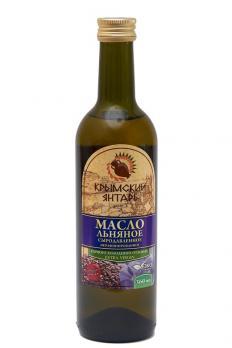 Масло Льняное 0.36л нерафинированное масло, extra virgin Крымский янтарь