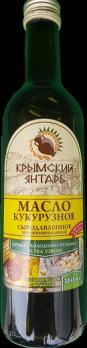 Масло Кукурузное 0.36л нерафинированное масло, extra virgin Крымский янтарь