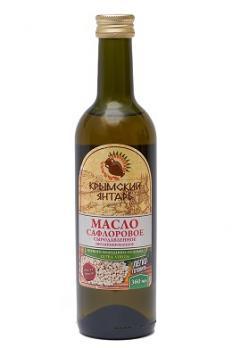 Масло Сафлоровое (Шафрановое) 0.36л нерафинированное масло, extra virgin Крымский янтарь