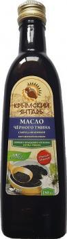 Масло Чёрного Тмина 0.25л нерафинированное масло, extra virgin Крымский янтарь