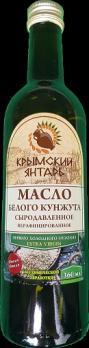 Масло Белого Кунжута 0.36л нерафинированное масло, extra virgin Крымский янтарь