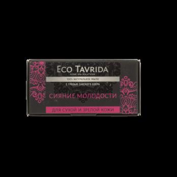 """Натуральное мыло с грязью Сакского озера для сухой и зрелой кожи """"Сияние молодости""""Эко Таврида"""