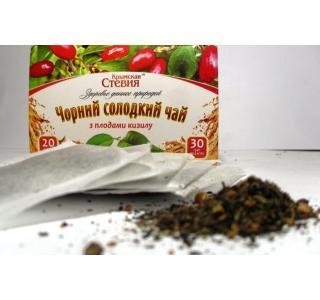 Черный чай со стевией и кизилом 30 грамм (20 ф/п)