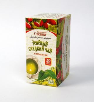 Зеленый чай со стевией и барбарисом 30 грамм (20 ф/п)