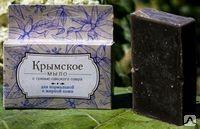 Крымское мыло на основе грязи Сакского озера для жирной кожи 80г.